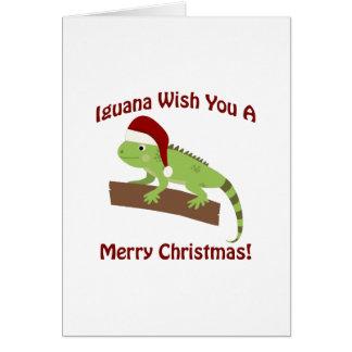 Leguan-Wunsch Sie frohen Weihnachten Karte