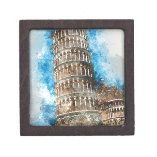 Lehnender Turm von Pisa in Italien Schachtel