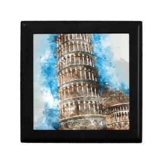 Lehnender Turm von Pisa in Italien Schmuckschachtel