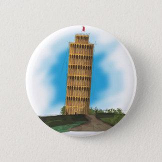 Lehnender Turm von Pisa Runder Button 5,1 Cm