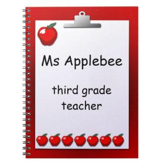 Lehrer-Apfel-kundenspezifisches Anmerkungs-Buch Spiral Notizbücher