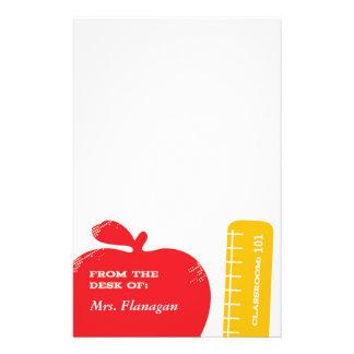 Lehrer-Briefpapier Individuelle Büropapiere