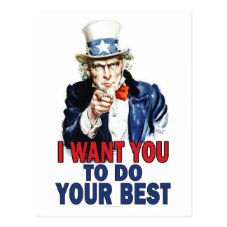 Lehrer-Geschenk-Anmerkungen - Uncle Sam Postkarten