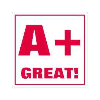 Lehrer-ordnende Briefmarke: A+, GROSS! Permastempel