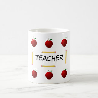 Lehrer zurück zu Schulschablone Tasse