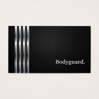 Leibwächter-berufliches schwarzes Silber Visitenkarten
