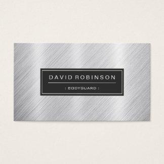 Leibwächter - moderner gebürsteter Metallblick Visitenkarten