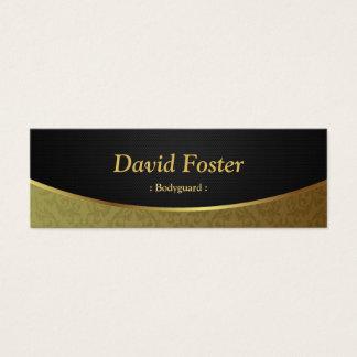 Leibwächter - schwarzer Golddamast Mini-Visitenkarten