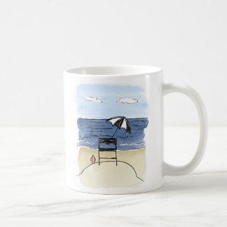 Leibwächter-Stuhl auf der Strand-Tasse Tasse