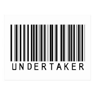 Leichenbestatter-Bar-Code Postkarte