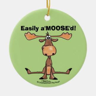"""Leicht A'Moose """" d Keramik Ornament"""
