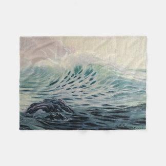 Leichte Ozeanwellen Fleecedecke