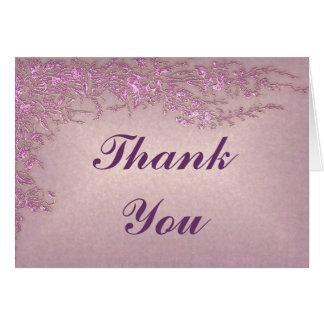 Leidenschafts-Rosa danken Ihnen zu kardieren Karte