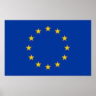 Leinwand-Druck mit Flagge der europäischen Poster