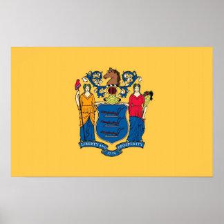 Leinwand-Druck mit Flagge von New-Jersey, USA Poster