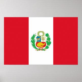 Leinwand-Druck mit Flagge von Peru Poster