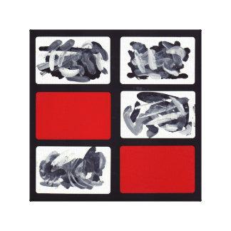Leinwand-Druck-rotes schwarzes abstraktes Gespannter Galerie Druck