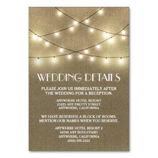 Leinwand-Hochzeits-Empfangs-Anpassungs-Karten Karte