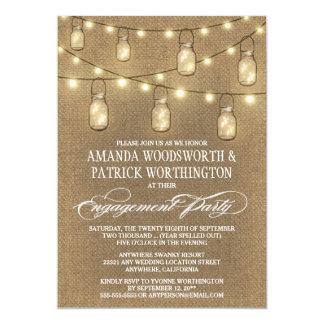 Leinwand-Maurer-Glas-Verlobungs-Party Einladungen