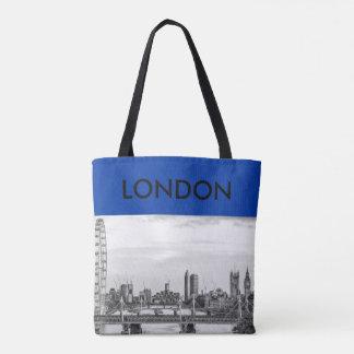 Leinwand-Taschen-Tasche Londons Big Ben die Themse