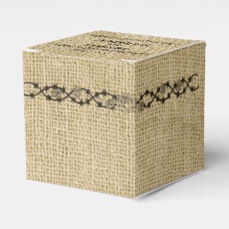 Leinwand-und Birken-Gastgeschenk Hochzeits-Kasten Geschenkkartons