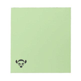 Lemur-Gesichts-Silhouette Notizblock