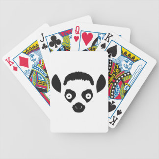 Lemur-Gesichts-Silhouette Pokerkarten
