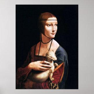 Leonardo da Vinci-Dame mit einem Ermine-Plakat Poster