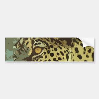 Leopard-Augen Autoaufkleber