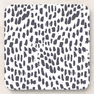 Leopard-Bürsten-Anschlag-Muster Untersetzer