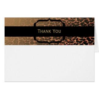 Leopard-Druck-Eleganz Mitteilungskarte