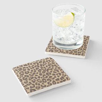 Leopard-Druck-Marmor-Stein-Untersetzer Steinuntersetzer