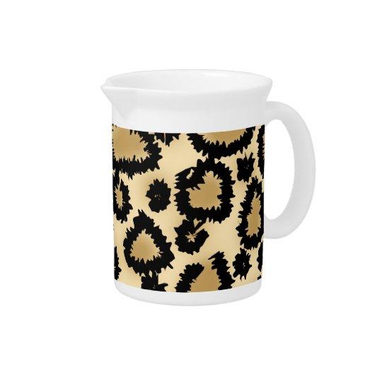 Leopard-Druck-Muster, Brown und Schwarzes Getränke Krüge