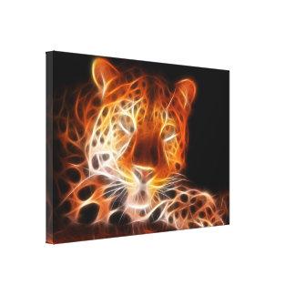 Leopard-einschüchternder Blick Leinwanddruck