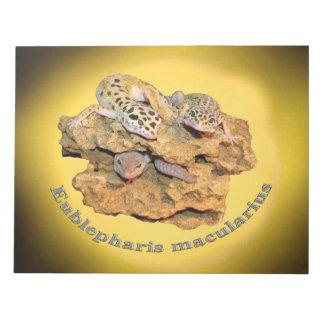 Leopard Geckoentwurf für alle! Notizblock