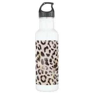Leopard-Haut im Mandarine-Elfenbein Trinkflasche