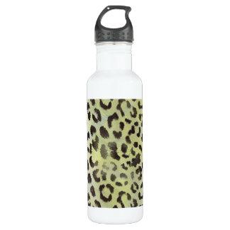 Leopard-Haut im Mandarine-Limonen Grün Trinkflasche