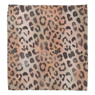 Leopard-Haut in der Mandarine-Aprikose Kopftuch