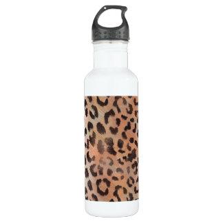 Leopard-Haut in der Mandarine-Aprikose Trinkflasche