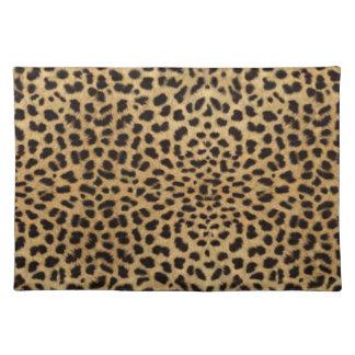 Leopard-Haut-Muster Stofftischset