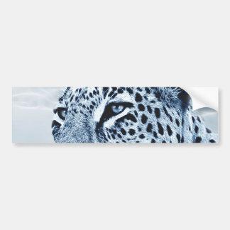 Leopard in Schwarzweiss Autoaufkleber