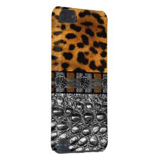 Leopard-Krokodil-Beschaffenheit iPod Touch 5G Hülle