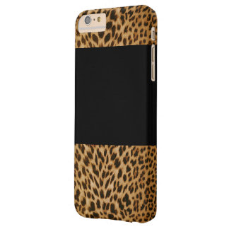 Leopard-Muster und schwarzes iPhone 6/6s plus Fall Barely There iPhone 6 Plus Hülle