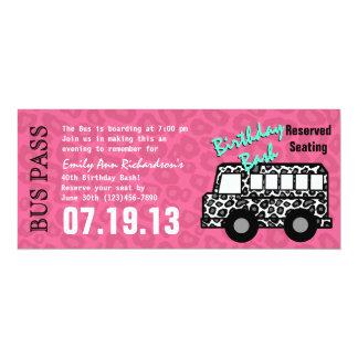 Leopard-Stellen-Bus-Durchlauf-Geburtstags-Party 10,2 X 23,5 Cm Einladungskarte