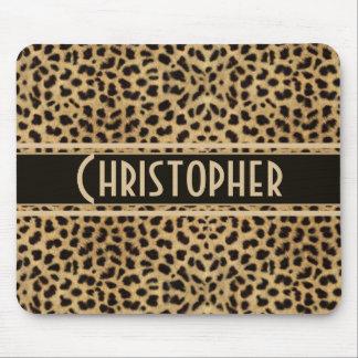 Leopard-Stellen-Haut-Druck personalisiert Mauspad