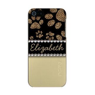 Leopard-Stellen-Tatze druckt Rhinestone FOTO-DRUCK Incipio Feather® Shine iPhone 5 Hülle