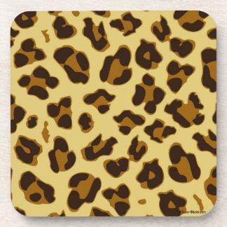 Leopard-Tierdruck-Muster Pastic Untersetzer-Set Getränkeuntersetzer