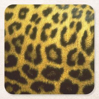 Leopard-Untersetzer Rechteckiger Pappuntersetzer