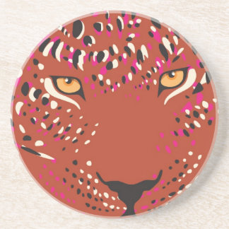 Leopard-Untersetzer Sandstein Untersetzer