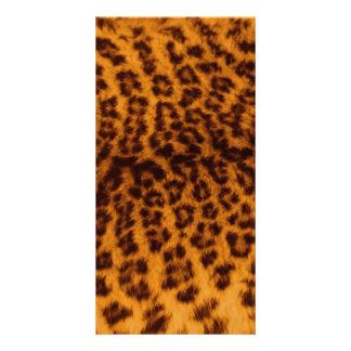 Leoparddruckschwarzes gepunktete fotokarten